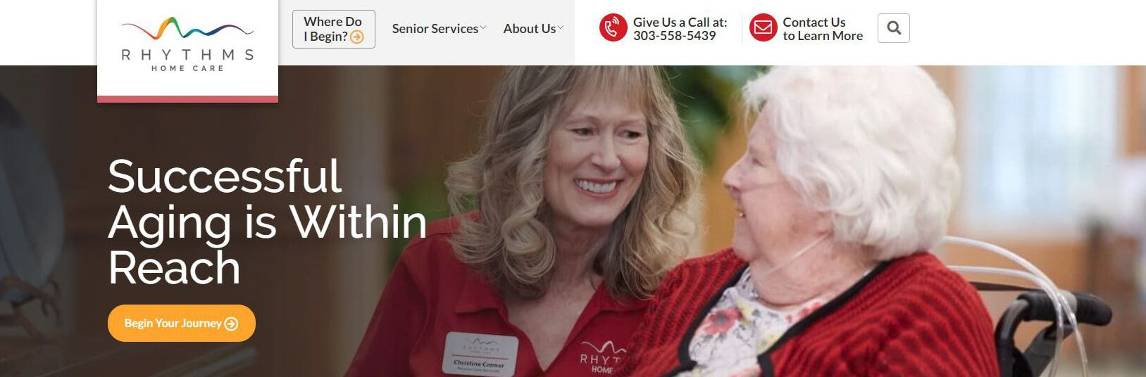 rhythms home care homepage