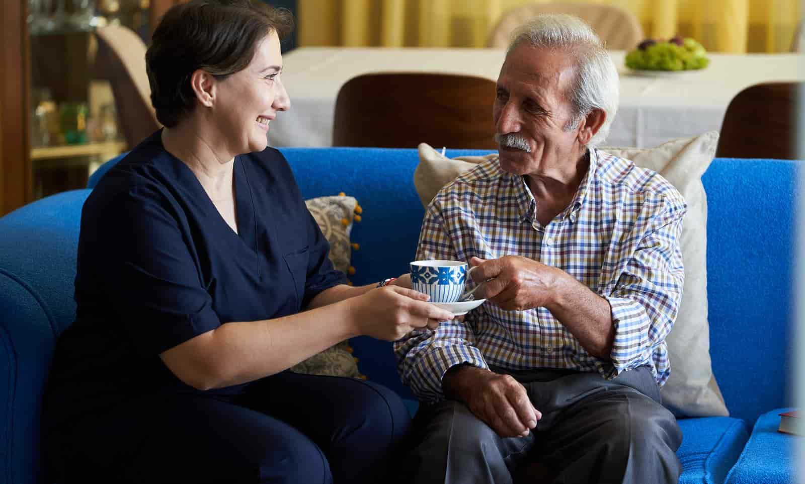 caregiver with dementia patient