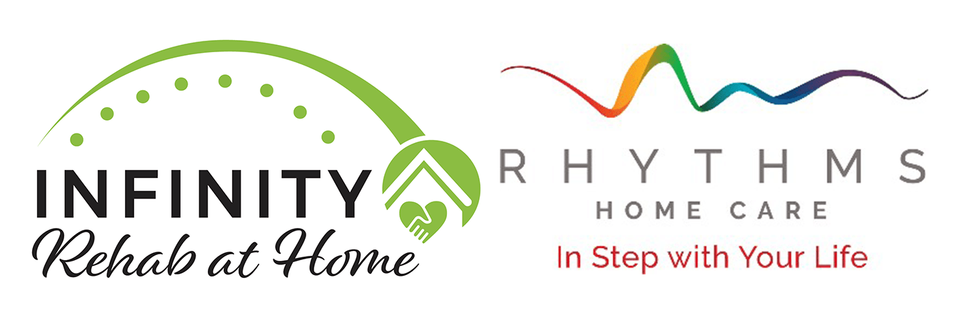 Infinity Rehab at Home and Rhythms Home Care partnership logo