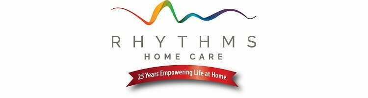 Rhythms Home Care 25 years logo for web